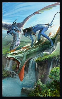 Avatar by TheMichaelMacRae Beau Film, Science Fiction, Fantasy Creatures, Mythical Creatures, Avatar James Cameron, Avatar Poster, Avatar Fan Art, Stephen Lang, Avatar Movie
