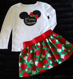 Christmas outfit....we are over the top minnie at our house if you couldn't tell! lol