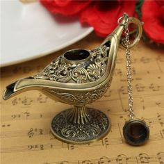 Hot Sale Fairy Tale Aladdin Magic Lamps Tea Pot Genie Lamp Vintage Toys Home Decoration For Children Gifts