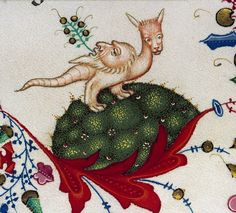 back-faced dragon Breviary of Mary of Savoy, Lombardy ca. 1430. Chambéry, Bibliothèque municipale, ms. 4, fol. 522r