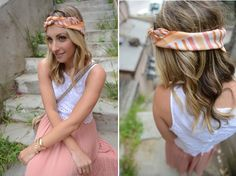 lace top & vintage scarf