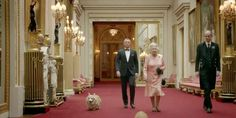 For the London Olympics Opening Ceremony, the Queen filmed a short sketch with Daniel Craig as James... - Courtesy London Olympics