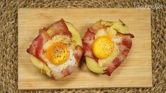 Zemiakové vaničky (videorecept) - recept | Varecha.sk Avocado Egg, Ale, Cheesecake, Potatoes, Eggs, Breakfast, Food, Basket, Cheesecake Cake