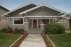 California bungalow house in Long Beach California.