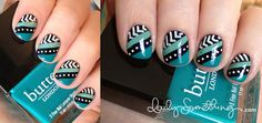 Teal Stripes & White Dots - Love the colours & design.