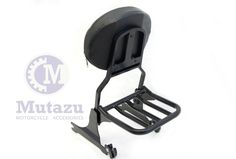 Mutazu Detachable Black Sissy Bar Backrest & Luggage Rack for Harley Softail FLH | eBay Motors, Parts & Accessories, Motorcycle Parts | eBay!