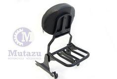 Mutazu Detachable Black Sissy Bar Backrest & Luggage Rack for Harley Softail FLH | eBay Motors, Parts & Accessories, Motorcycle Parts | eBay!