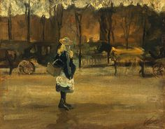 """amare-habeo: """" Vincent Van Gogh (Dutch, 1853 - 1890) Place des voitures, 1883 Oil on wood, 42 x 53 cm """""""