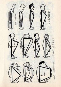Drawing tips by 手塚 治虫 Osamu Tezuka* Character Design Cartoon, Character Design Animation, Character Design References, Character Drawing, Character Illustration, Character Design Tips, Fantasy Character, Character Design Tutorial, Character Sketches