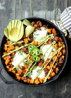 Sweet Potato Chorizo Hash is a no-fuss meal that's perfect anytime of the day!