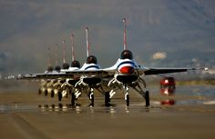 """Thunderbirds: F-16 Fighting Falcons affectionately known to all who fly it as the """"Viper"""""""