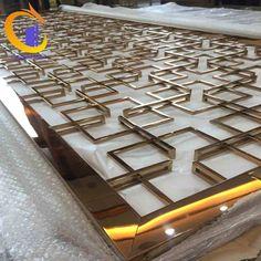 Golden Color Stainless Steel Polished Decorative Metal 3D Corten Steel Screen Decorative Room divider Patterns