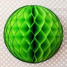 Tissue Pouf: Lime Green