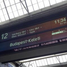 Auf dem Weg nach #Wien.  Oder in #Salzburg aussteigen? Oder bis #Budapest durchfahren? #OomenTour2015