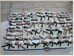 Scatoline personalizzate per confetti con conchiglie