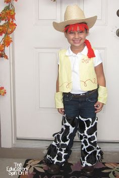 Jessie Costume Idea from Toy Story plus ways to turn the vest into many more costumes for Halloween or Dress UP