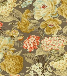 Waverly Upholstery Fabric-Floral Flourish Clay