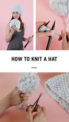 How to knit a hat by Wool and the Gang.