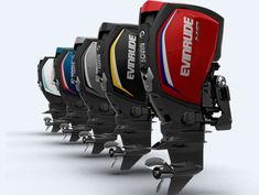 Evinrude E-TEC G2: The Henry Ford mentality can take a powder – Evinrude offers 5 standard panel colors and 14 accent decal shades. Partner builders get their Evinrude engines to match their boat's hull colors.