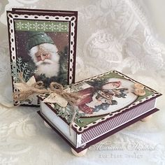 Today I have decorated two matchboxes with some Pion products: The Night before Christmas Small Christmas Gifts, Christmas Card Crafts, Vintage Christmas, Christmas Decorations, Diy And Crafts, Paper Crafts, Matchbox Art, The Night Before Christmas, Vintage Paper