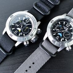 #MiLTAT WAFFLE NATO with these #Jaeger-leCoultre Master Compressor Chrono 160.T.25 Boutique and Titanium Q186T670 #strapcode