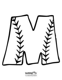 Printable Baseball Alphabet Letters Baseball Alphabet Letter M – Craft Jr.
