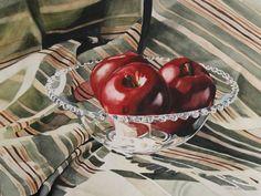 Apples In Candlewick | Carrie Waller   Watercolor