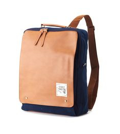 New Square Backpack (Navy)