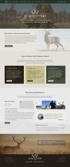 JB Outfitters - style built on 3 CMS. Fully responsive custom website by Webunderdog Trophy Hunting, Archery Hunting, Mule Deer, Custom Website, South Dakota, Website Template, Web Design, Deco, Style