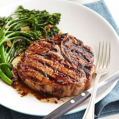 Bourbon-Sauced Pork Chops