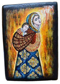 Ikona Maryji niosącej w chuście Jezusa Art Ideas, Gifts, Painting, Art, Presents, Painting Art, Paintings, Favors, Painted Canvas