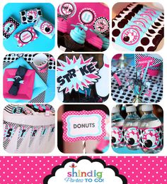 Bowling Party Printables - PINK -Bowling Birthday - Huge Party Set by Amanda's Parties TO GO. $29.00, via Etsy.