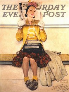 """""""Double Take""""--my fave from Norman Rockwell! (Saturday Evening Post cover)"""
