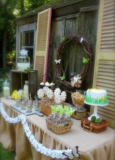 Butterfly Garden Dessert Table