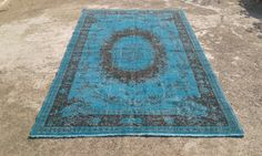 "Big Sale %50 off overdyed rug,anatolian vintage turkish rugs,decorative area rugs,handwoven carpets,natural wool carpet 5'7""x 9'4"" ft"
