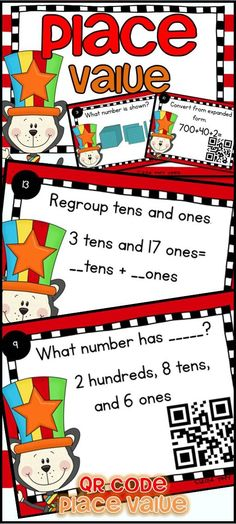 Would you like your students to have extra practice in place value? I love how task cards are just the right thing for independent practice in centers, small groups or playing scoot.  Students will convert to and from a number, convert from expanded form, regroup tens and ones, determine the value of an underlined digit, and tell the number shown in a place value model. $