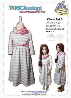 2K32 Ebook Kinderkleid Suki Gr. 98-140 von TOSCAminni E-Books und Schnittmuster für Kindermode auf DaWanda.com