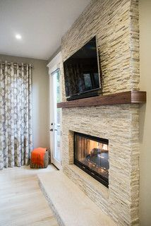Modern Fireplace Decor, Fireplace Tv Wall, Fireplace Pictures, Bedroom Fireplace, Fireplace Remodel, Living Room With Fireplace, Fireplace Design, Living Room Decor, Fireplace Ideas