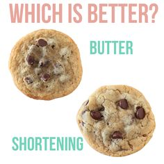 Butter vs Shortening, which is BETTER? The exact differences simply explained (video included) with side-by-side comparisons in cookies, biscuits, and pie crusts so you can SEE the difference. Canned Butter, Better Butter, Butter Cookies Recipe, Candy Cookies, Baking Tips, Baking Ideas, Baking Supplies, Cake Decorating Tips