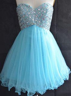 Short Cute Blue Prom Dress, #promdresses, #bluedresses, #homecomingdresses