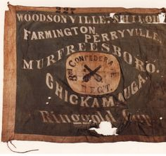 3rd Confederate Infantry flag (Arkansas-Mississippi regiment) [Polk's Brigade, Cleburne's Division, Hill's Corps]. Alabama Photographs and Pictures Collection.