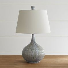 "Shaye Table Lamp | Crate and Barrel  Overall Dimensions Height: 13.5"" Diameter: 8"" Base Width: 6"" Depth: 6"" Height: 9.5"" Shade (Top) Height: 7"" Diameter: 7.5"" Shade (Bottom) Height: 7"" Diameter: 8""  279.00"