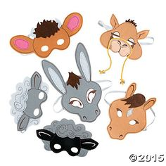 Nativity Animal Masks