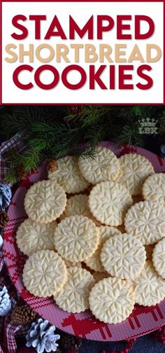 A perfect treat for anyone at anytime; Stamped Shortbread Cookies are buttery and delightfully bright and vibrant to match the holiday season! #shortbread #cookie #stamp #stamped #christmas #holiday #baking