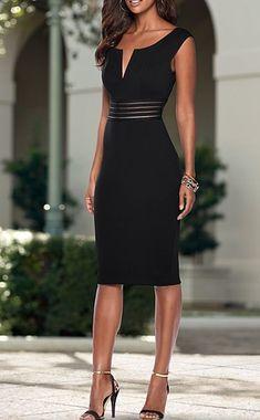 Classy Dress, Classy Outfits, Stylish Outfits, Elegant Dresses, Pretty Dresses, Beautiful Dresses, Look Fashion, Womens Fashion, Black Dress Outfits
