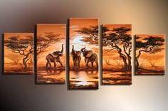 Resultado de imagen para cuadros de elefantes