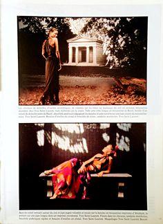 1978 - Yves Saint Laurent Haute Couture spring 78 - Arthur Elgort - Vogue Paris