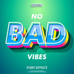 typo No bad vibes font effect with modern trendy design style How To Choose A Dishwasher Basicall Retro Graphic Design, Graphic Design Trends, Graphic Design Posters, Graphic Design Inspiration, Text Design, Ad Design, Layout Design, Branding Design, Logo Design