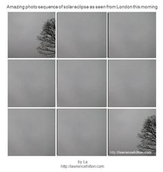Amazing Solar Eclipse Photo Sequence from London