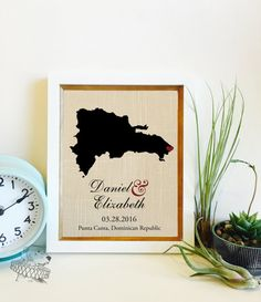Wedding Gift Year 4 : ... year Anniversary Gift Gift for the Couple Frame not included